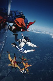 Skydiving, Parachuting (not to mention Soaring, Hang Gliding, Paragliding) Schools and Centers!